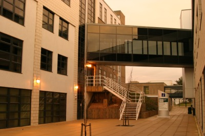 Bridge between University of York buildings